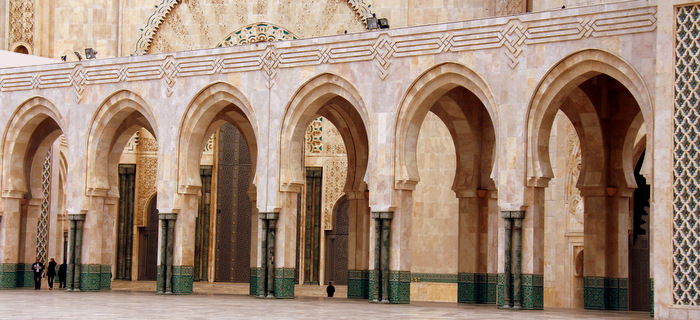 Making Our Way Towards The Entrance - Casablanca, Morocco