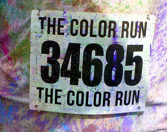 Bib Number 34685 - Color Run 2013 - San Francisco, CA
